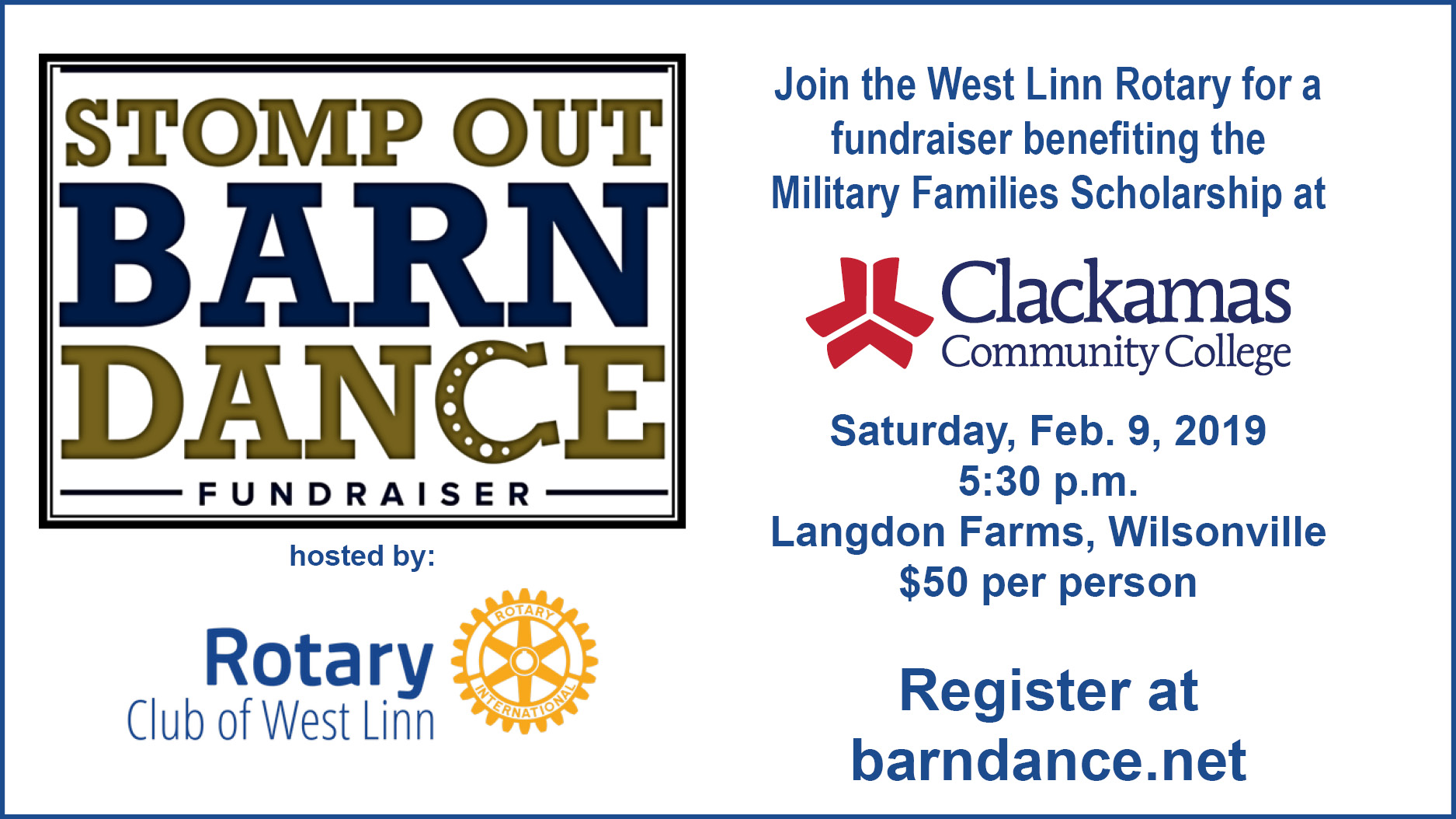 Register for Stomp Out Barn Dance