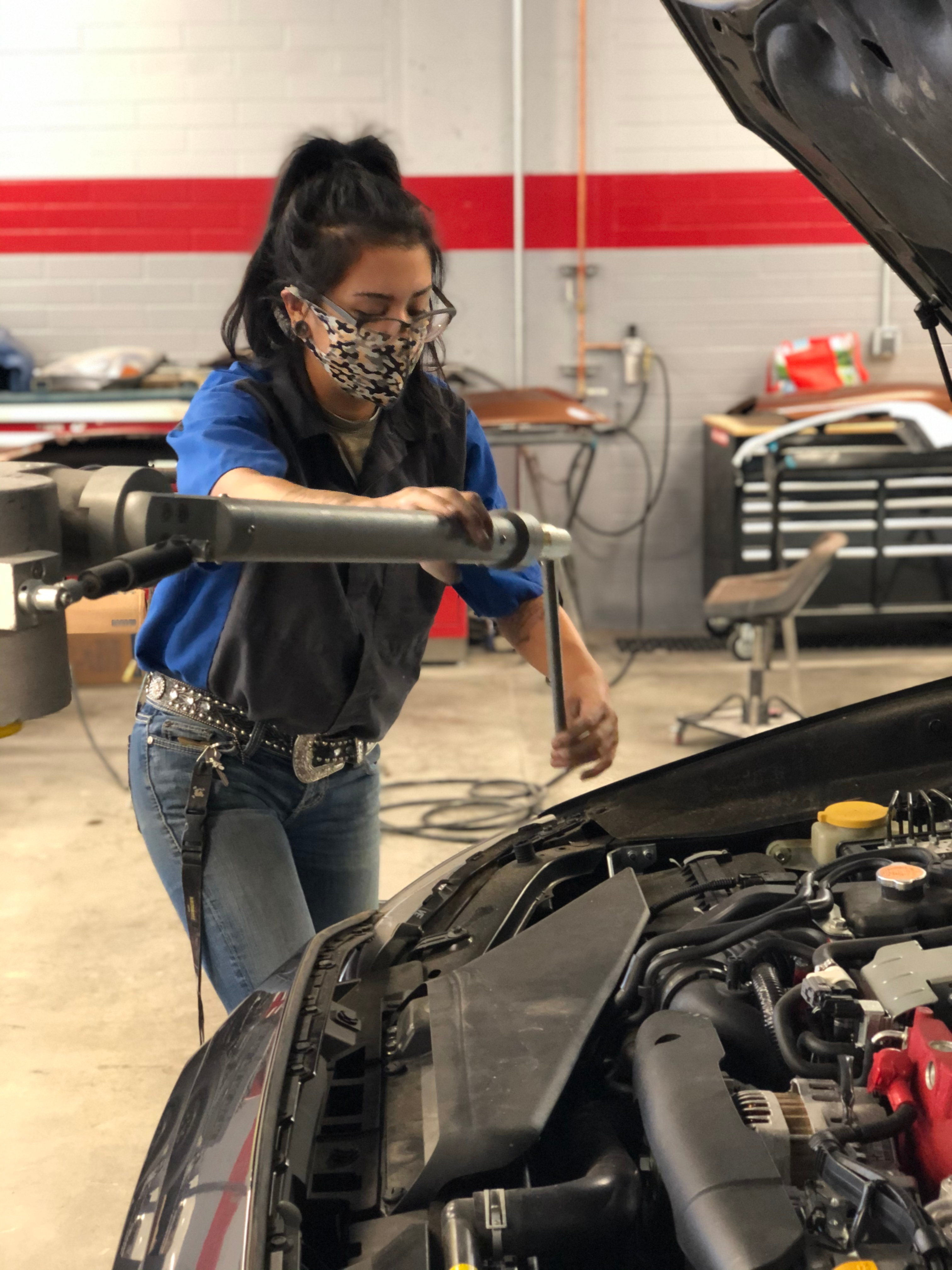 Automotive Student in Mask