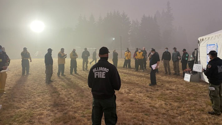 Firefighters at CCC
